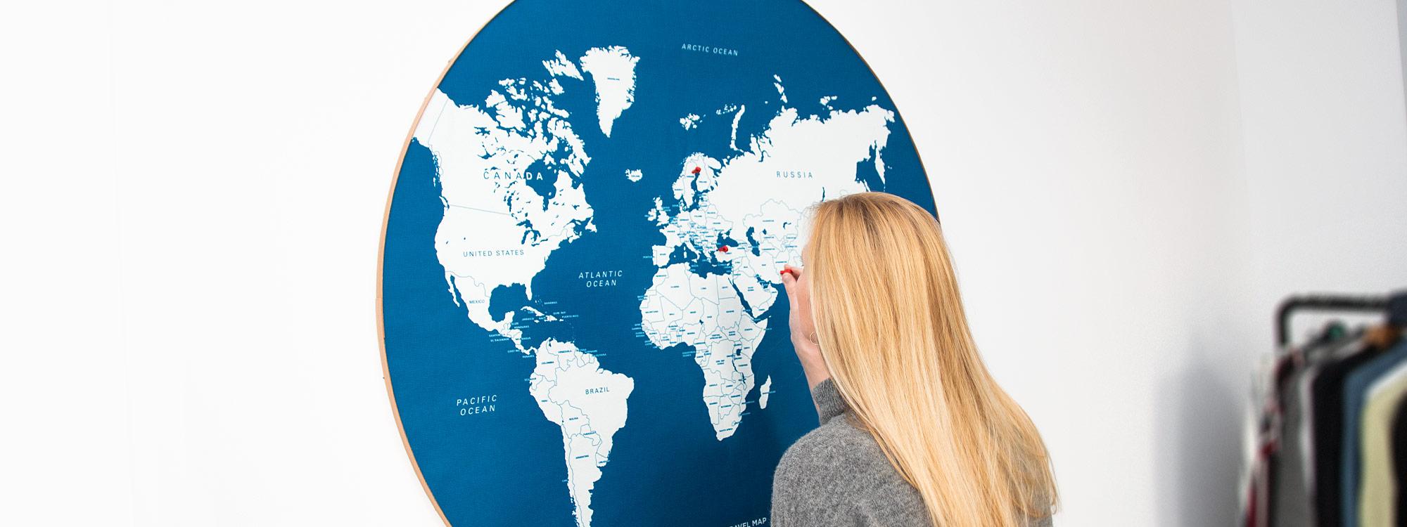 Pin travel map header