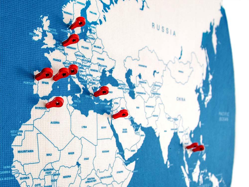 Pin travel map pins