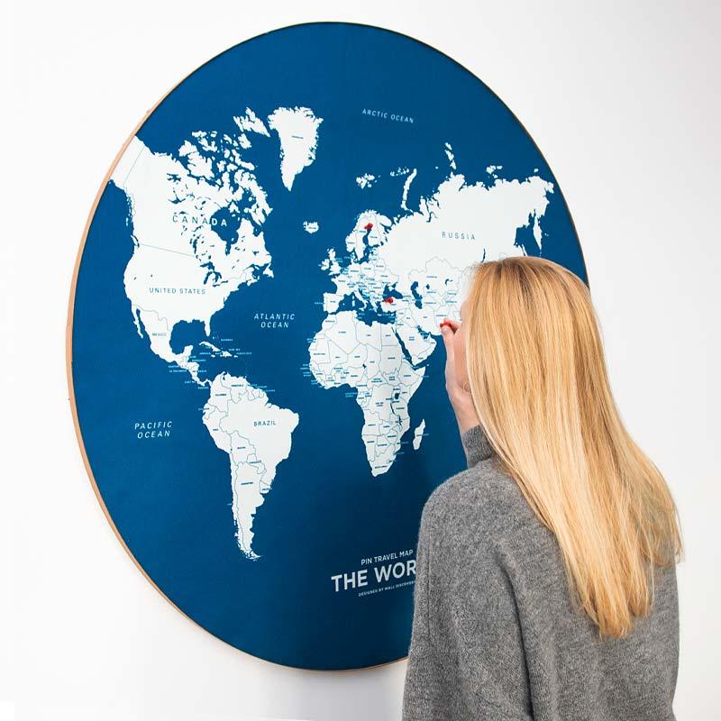 Push Pin World Map Header