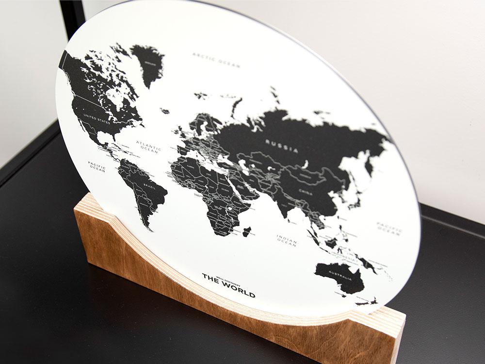 Standing World Map