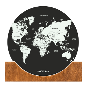 Standing World Map - Black