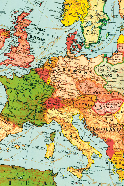 Vintage europe map wall discovery 1 gumiabroncs Images