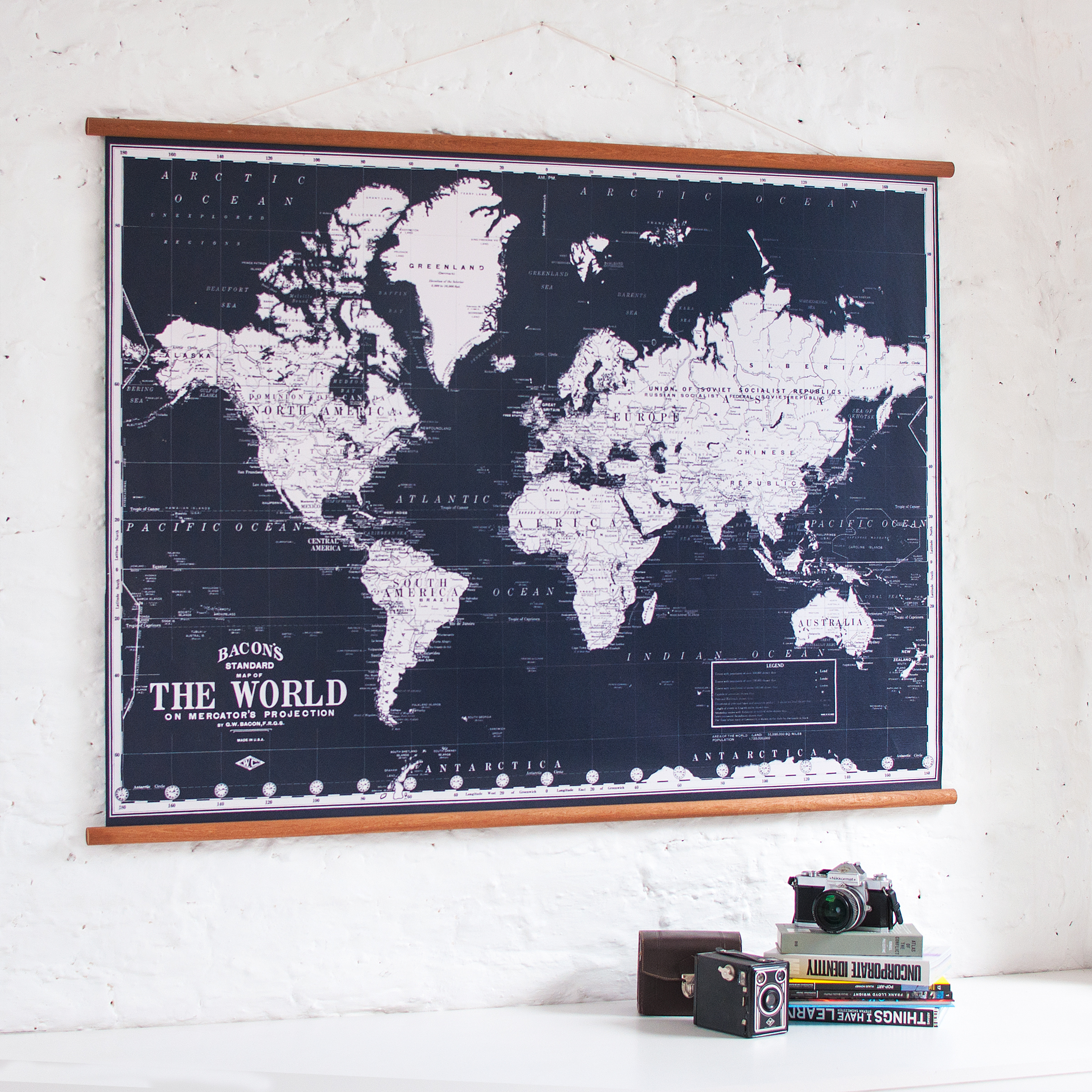 Vintage world map black wall discovery vintage world map black 1 gumiabroncs Choice Image